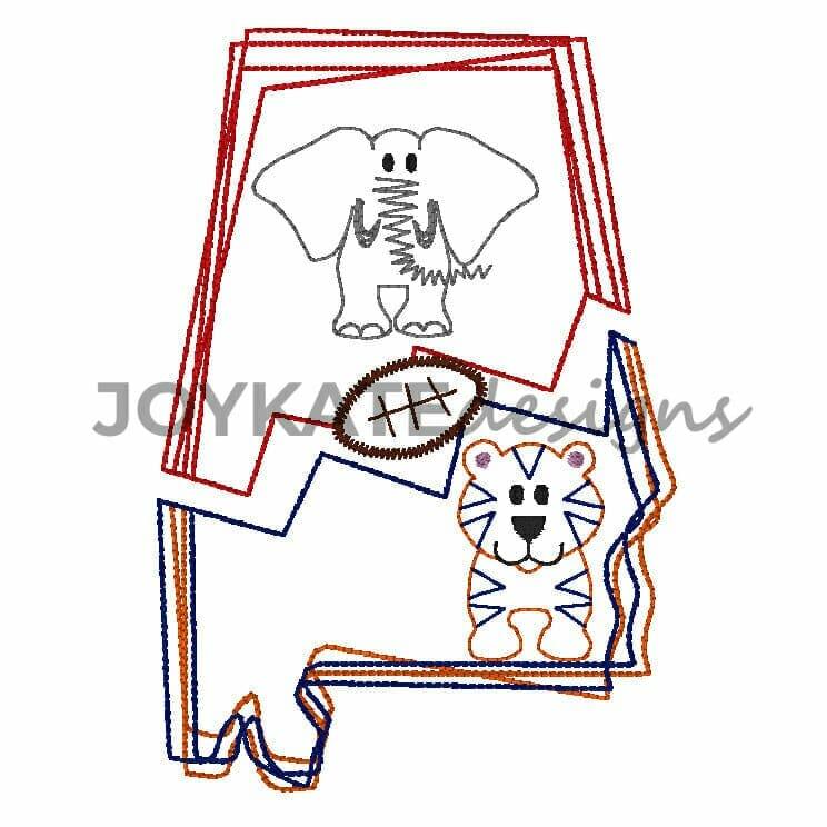 Alabama House Divided Football Vintage Embroidery Design | Joy ...