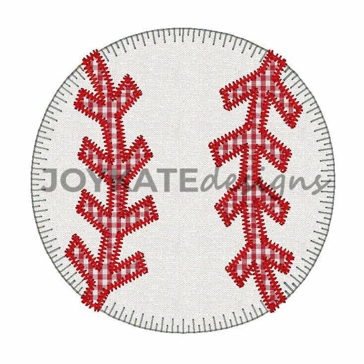 Baseball Vintage Applique Embroidery Design Joy Kate Designs