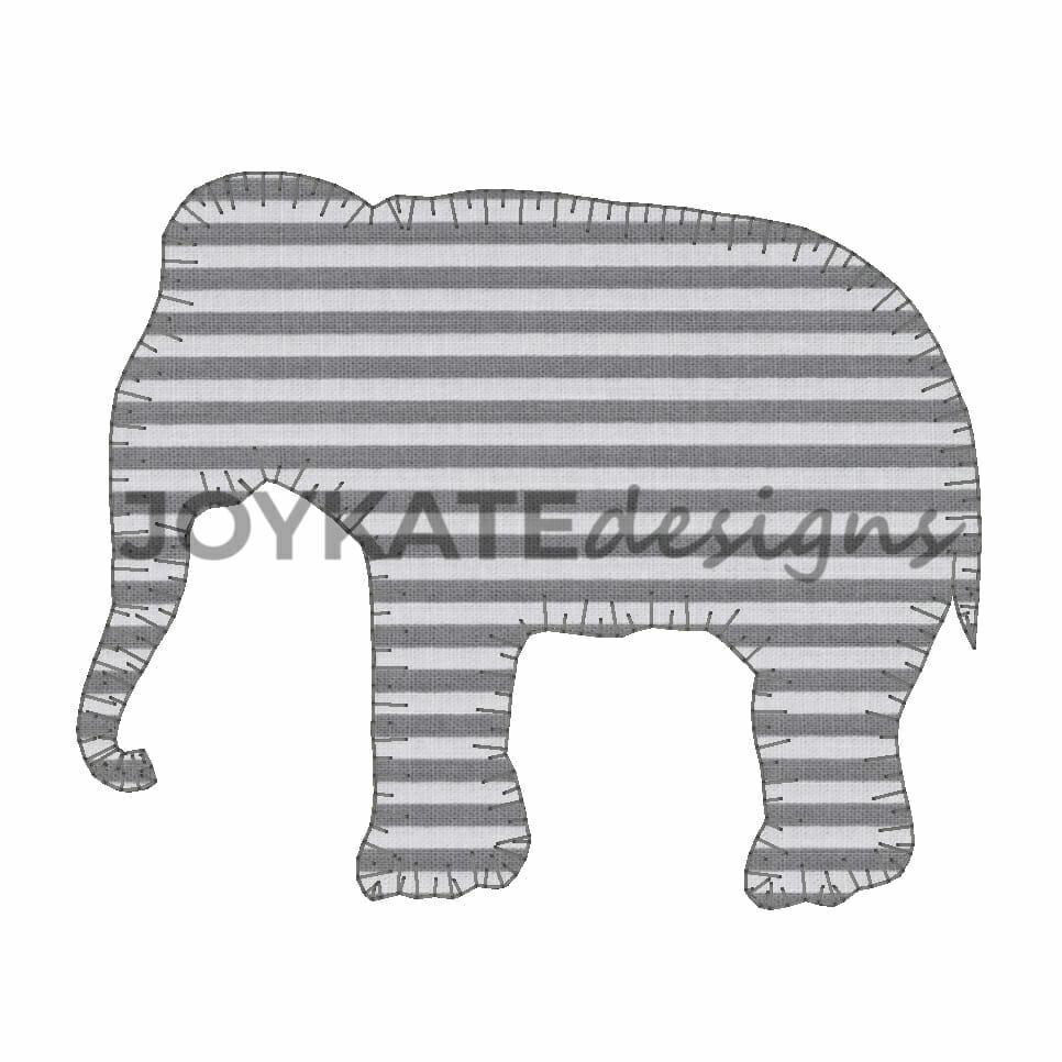 Elephant Silhouette Applique Download - Elephant Applique Design ...