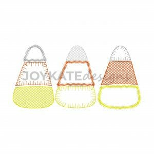 Quick Fall Bean Stitch Candy Corn Embroidery Design