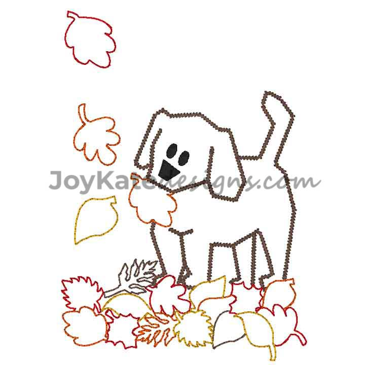 Applique Leaves Machine Embroidery Designs