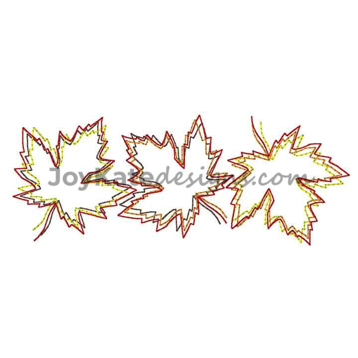 Fall Maple Leaves Quick Stitch Vintage Embroidery Design Joy Kate