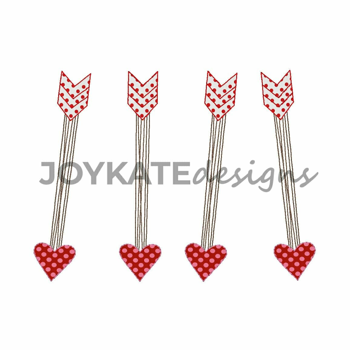 Heart Arrows Valentine S Day Vintage Applique Embroidery Design