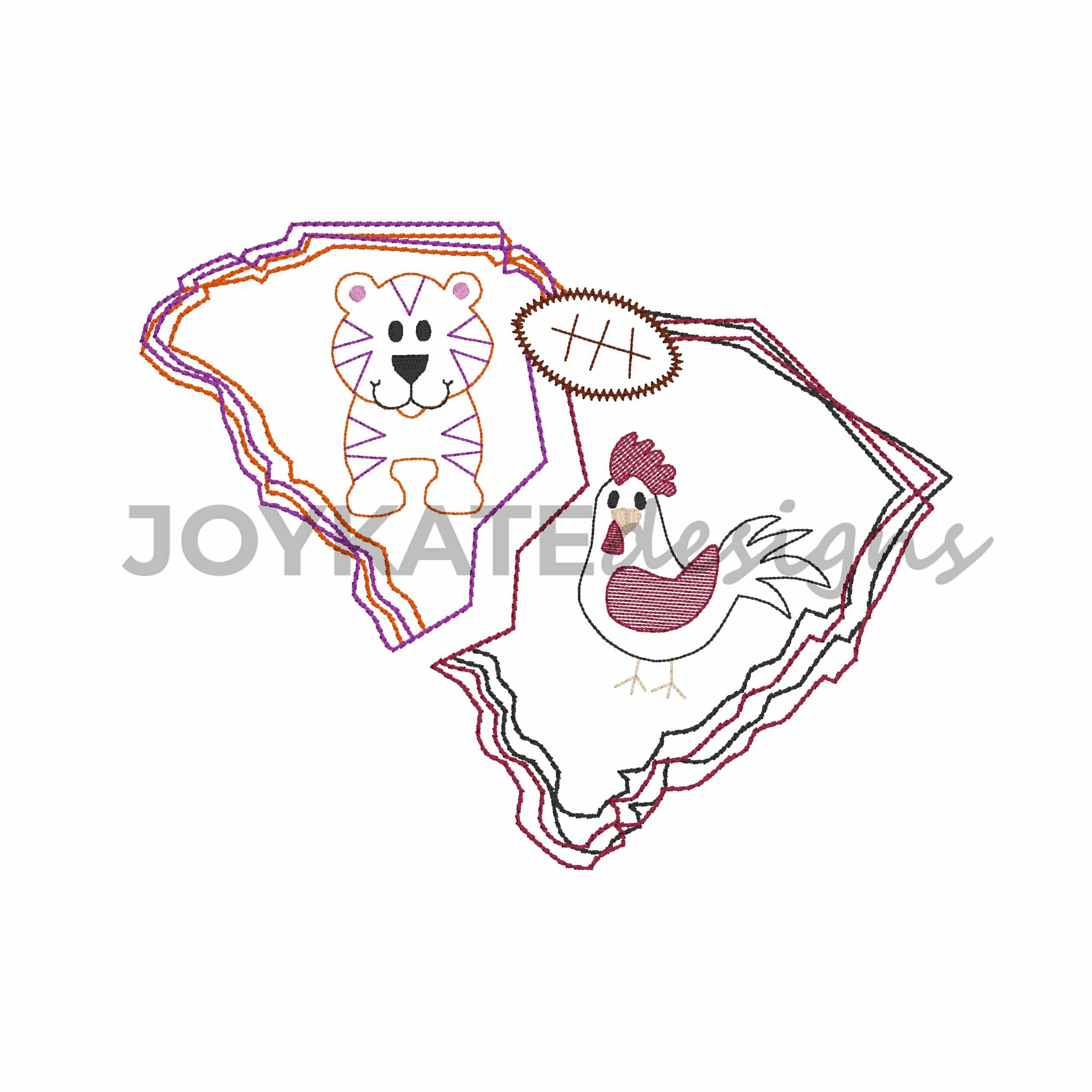 House Divided South Carolina Vintage Embroidery Design Joy Kate