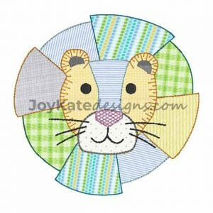 Bean Stitch Baby Lion Applique