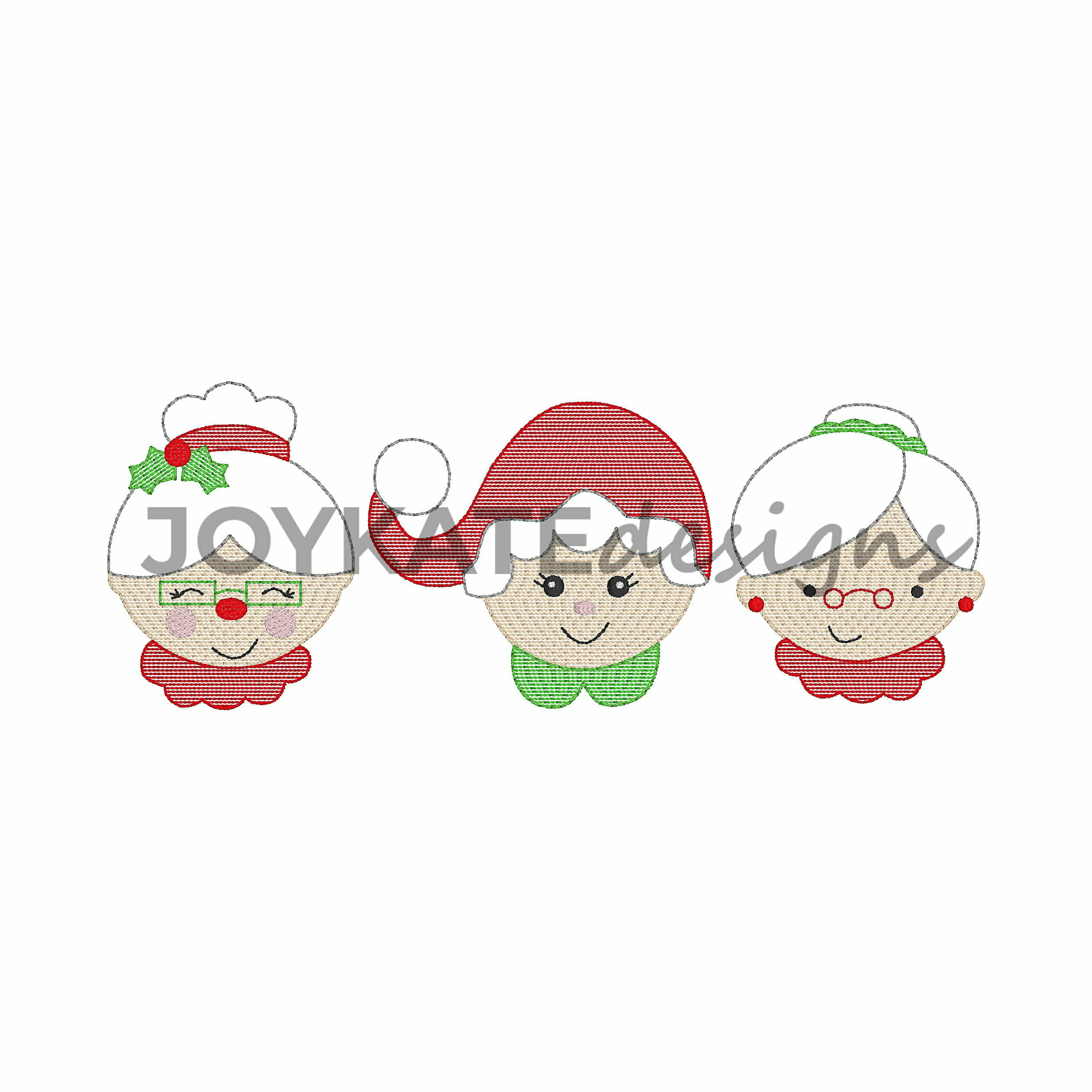 Applique Mrs Claus Embroidery Design