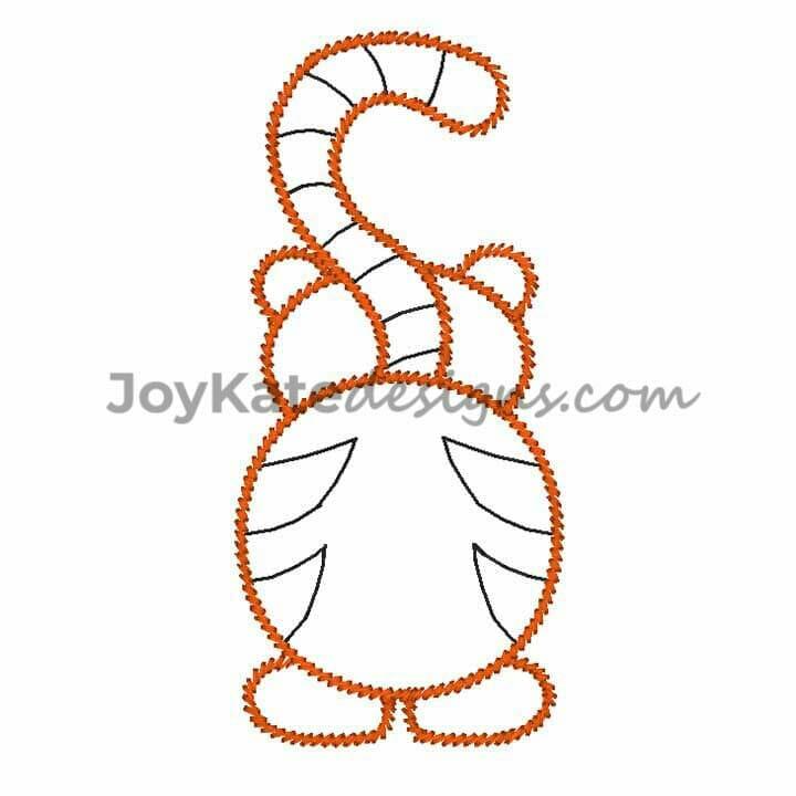 Tiger Butt Vintage Embroidery Design Joy Kate Designs