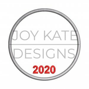 2020 Christmas ornament satin stitch outline embroidery design