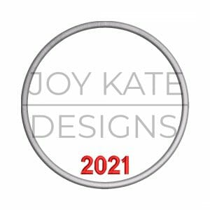 2021 Christmas ornament satin stitch outline
