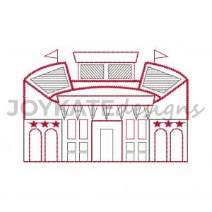 Football Stadium in Texas Vintage Quick Stitch Design for Machine Embroidery