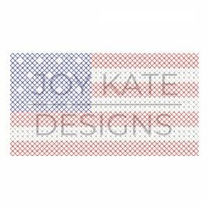 Patriotic American Flag Cross Stitch Machine Embroidery Design