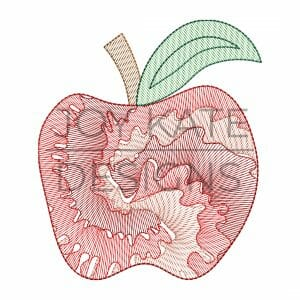 Apple light fill/low density tie-dye design for machine embroidery