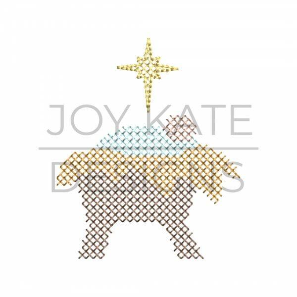 Baby Jesus Nativity Christmas Cross Stitch Machine Embroidery Design