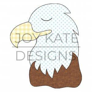 Vintage Bald Eagle Applique Design for Machine Embroidery