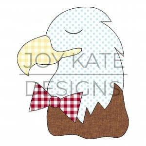 Boy Bald Eagle Applique Design for Machine Embroidery