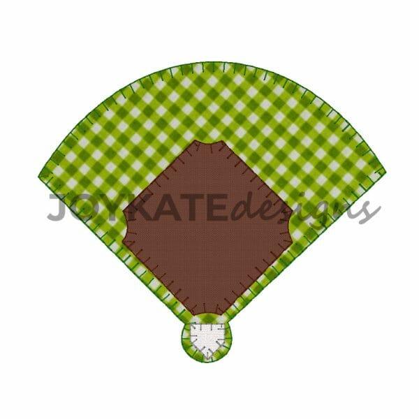 Blanket Stitch Baseball Diamond Applique
