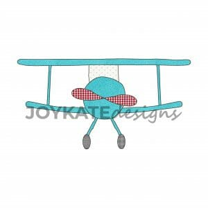Vintage Bean Stitch Airplane for Machine Embroidery