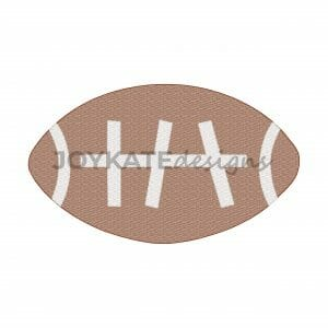 Vintage Football Applique Design with Bean Stitch Finish for Machine Embroidery