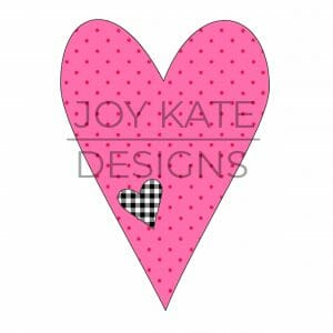 Bean Stitch Heart Applique Design