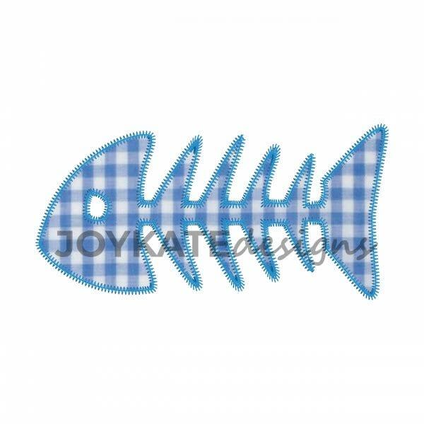 Bonefish Applique Design for Machine Embroidery