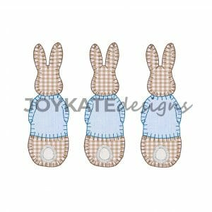 Blanket Stitch Peter Rabbit Trio Applique'
