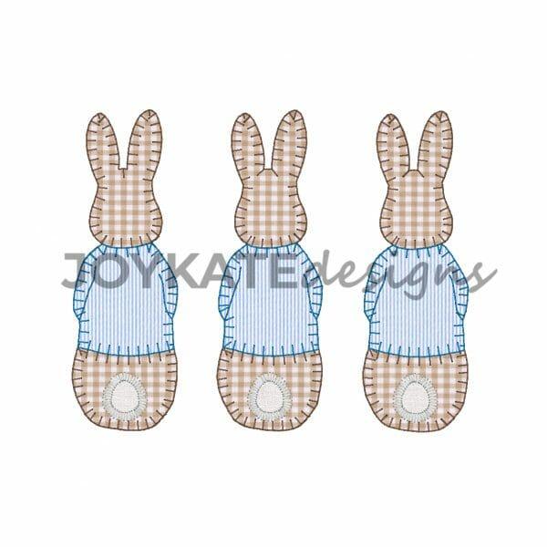 Blanket Stitch Peter Rabbit Trio Applique'