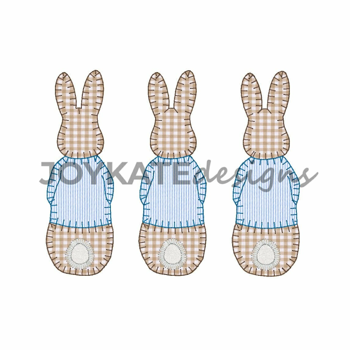 Boy bunny rabbit with jacket applique trio embroidery for Net designs