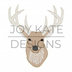 Sketch Deer Embroidery Design