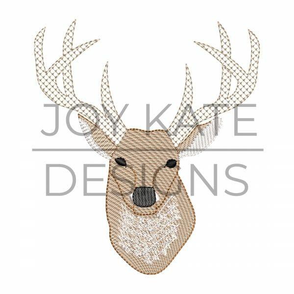 Sketch Deer Embroidery Design