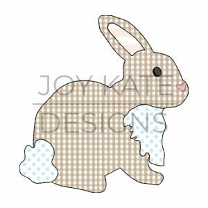 Raggy Easter Bunny Rabbit Bean Stitch Applique Design