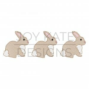 Sketch Easter Bunny Trio Embroidery Design
