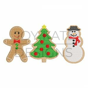 Christmas cookies light fill/low density machine embroidery design