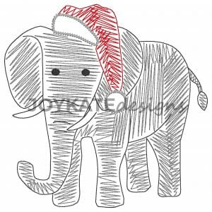 Vintage Elephant with Santa Hat