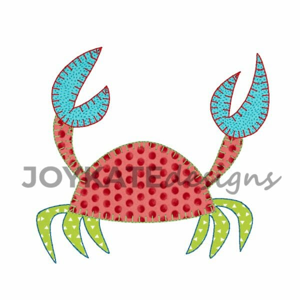Vintage Crab Applique Design for Machine Embroidery