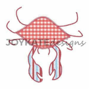 Crab Applique Design for Machine Embroidery