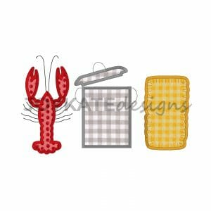 Satin Stitch Crawfish Boil