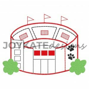 Dawg Football Stadium Vintage Embroidery Design