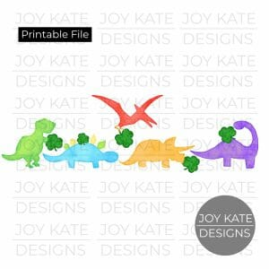 St. Patrick's Day dinosaur clipart png watercolor