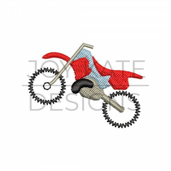 Dirt Bike Mini Fill Stitch Design for Machine Embroidery