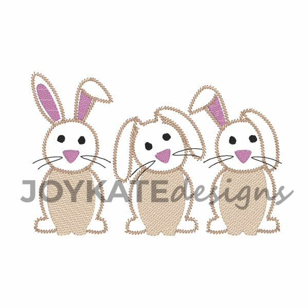 Vintage Stitch Easter Bunny Design