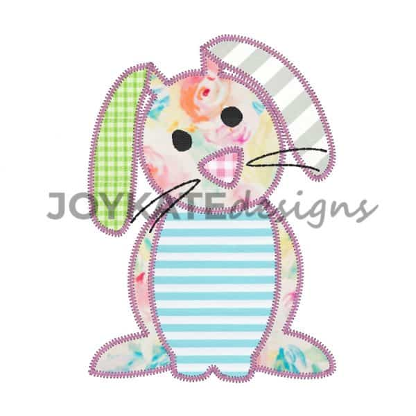 Easter Bunny Rabbit Zigzag Stitch Applique for Machine Embroidery