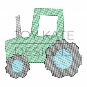 Tractor Light Fill Embroidery Design