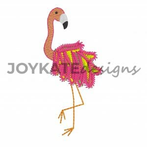 Filled Stitch Flamingo Design for Machine Embroidery