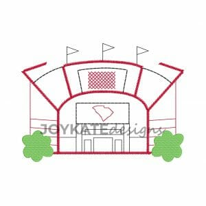 Football Stadium in South Carolina Machine Embroidery Design