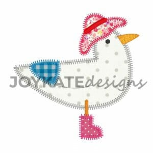 Seagull Vintage Style Applique Design for Machine Embroidery