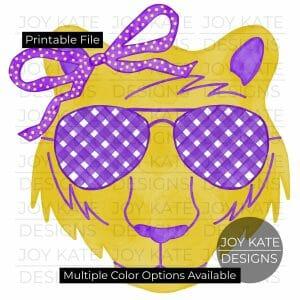 Girl Tiger watercolor clipart printable png