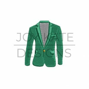 Green Golf Jacket Mini Fill Stitch Design for Machine Embroidery