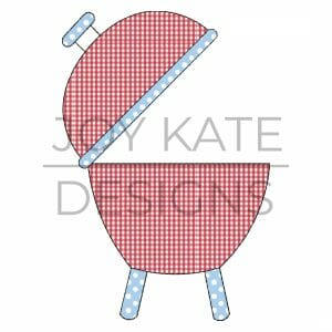 Grill Vintage Applique Design for Machine Embroidery