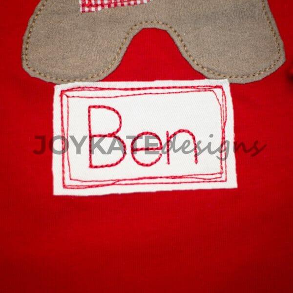 Bean Stitch Vintage Raggy Rectangle Frame Design.