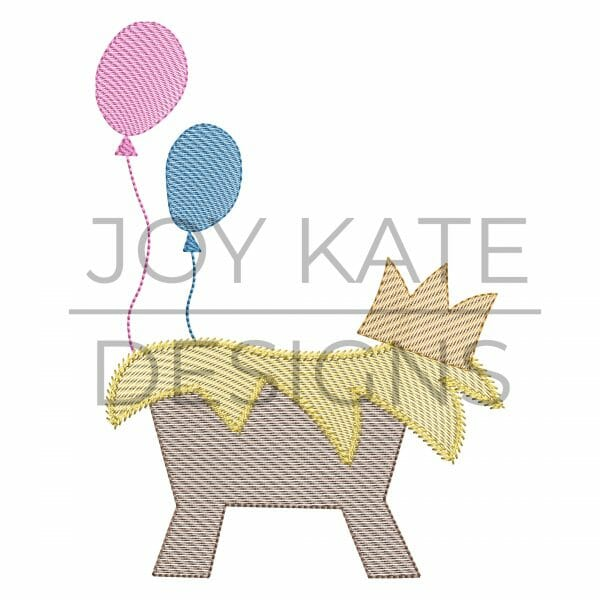 Jesus Birthday Embroidery Design